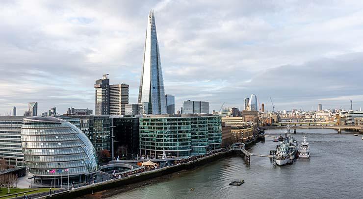 London City skyline for Binance decision