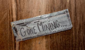 Gone Mining Crypto Lawyer Sign